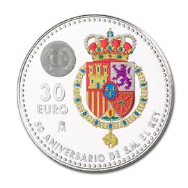 moneda-color-aniversario-rey-felipe